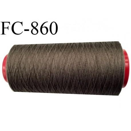 CONE 5000 m fil Polyester Coats épic fil n°120 couleur taupe 5000 m bobiné en France résistance à la cassure 1000 grammes
