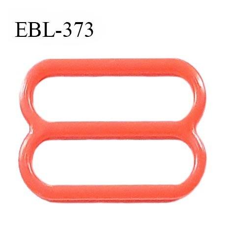 Réglette 17 mm de réglage bretelle en pvc orange largeur intérieure 17 mm hauteur 16 mm largeur extérieure 21 mm prix à l'unité