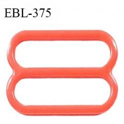 Réglette 15 mm de réglage bretelle en pvc orange largeur intérieure 15 mm hauteur 16 mm largeur extérieure 18 mm prix à l'unité