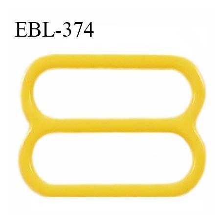 Réglette 19 mm de réglage bretelle en pvc jaune largeur intérieure 19 mm hauteur 16 mm largeur extérieure 22 mm prix à l'unité