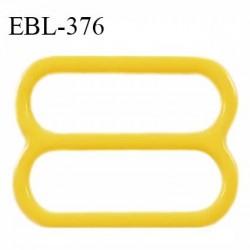 Réglette 17 mm de réglage bretelle en pvc jaune largeur intérieure 17 mm hauteur 16 mm largeur extérieure 21 mm prix à l'unité