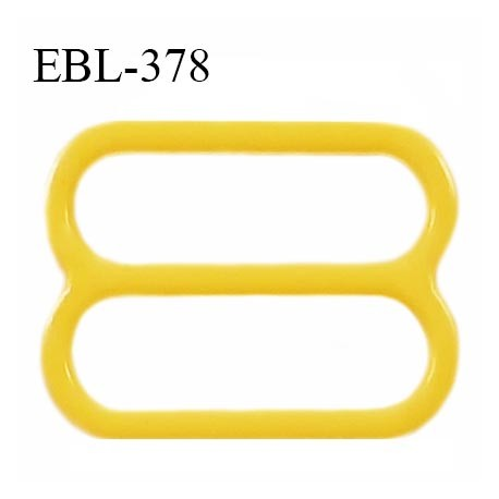 Réglette 15 mm de réglage bretelle en pvc jaune largeur intérieure 15 mm hauteur 16 mm largeur extérieure 18 mm prix à l'unité