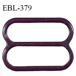 Réglette 17 mm de réglage bretelle en pvc aubergine largeur intérieure 17mm hauteur 16mm largeur extérieure 21mm prix à l'unité