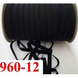 élastique plat largeur 12 mm couleur noir fin souple vendu au mètre
