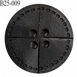 Bouton 25 mm en pvc couleur noir 4 trous diamètre 25 mm épaisseur 4 mm prix à l'unité