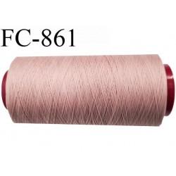 Cone 5000 m fil mousse polyamide n°120 couleur vieux rose longueur 5000 mètres  bobiné en France