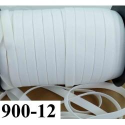 élastique plat largeur 12 mm couleur blanc vendu au mètre