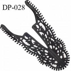 Devant plastron effet cuir noir très souple et fin hauteur 40 cm largeur 25 cm prix à l'unité