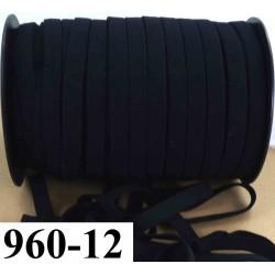 élastique plat largeur 12 mm couleur noir vendu au mètre