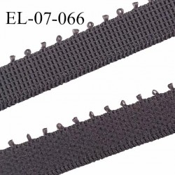 Elastique lingerie picot 7 mm + 2 mm picot couleur gris ardoise grande marque fabriqué en France largeur 7 mm + 2 prix au mètre