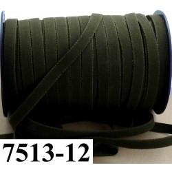 élastique plat largeur 12 mm couleur vert kaki vendu au mètre
