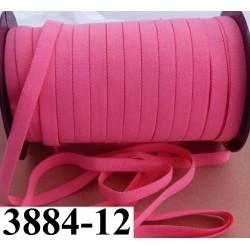 élastique plat largeur 12 mm couleur rose corail vendu au mètre