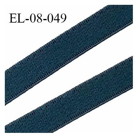 Elastique 8 mm lingerie haut de gamme fabriqué en France couleur vert empire élastique souple largeur 8 mm prix au mètre