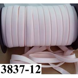 élastique plat largeur 12 mm couleur rose pétale vendu au mètre