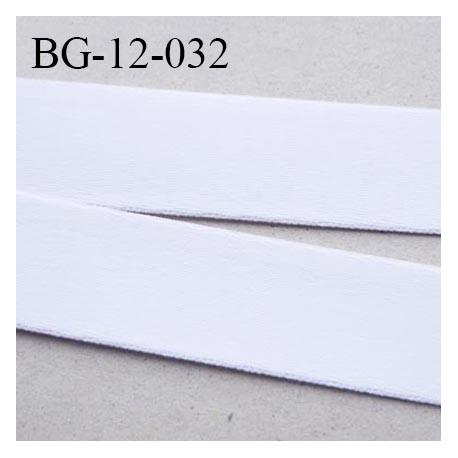 Devant bretelle 12 mm haut de gamme en polyamide attache bretelle rigide pour anneaux couleur blanc prix au mètre