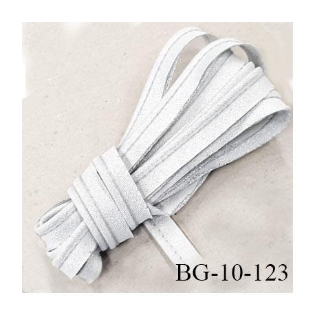 Passepoil 10 mm couleur blanc gris brillant lurex superbe largeur 10 mm  lien coton intérieur 2 mm  largeur 10 mm  prix du mètre