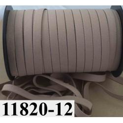 élastique plat largeur 12 mm couleur marron nougatine vendu au mètre