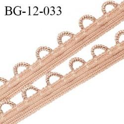 Galon boutonnière 12 mm lingerie haut de gamme couleur beige rosé ou caramel fabriqué en France prix au mètre
