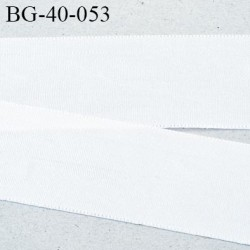 Galon ruban fin petit grain 40 mm couleur blanc brillant très très solide et souple rayonne largeur 40 mm prix au mètre
