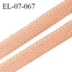Elastique lingerie 7 mm + 2 mm picots couleur rose toucan grande marque fabriqué en France largeur 7 mm + 2 prix au mètre