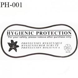Protection culotte lingerie hygiénique autocollante longueur 110 mm largeur 50 mm couleur noir facile à poser prix à la pièce