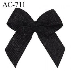 Noeud 18 mm lingerie couleur noir satiné haut de gamme largeur 18 mm hauteur 20 mm haut de gamme
