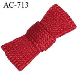 Noeud 18 mm lingerie couleur rouge bordeaux satiné haut de gamme largeur 18 mm hauteur 7 mm haut de gamme