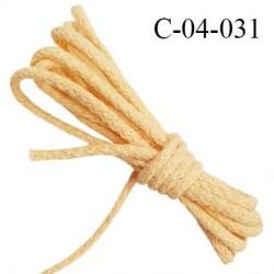 Cordon 4 mm en coton très solide couleur pêche diamètre 4 mm prix au mètre