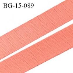 Devant bretelle 15 mm en polyamide attache bretelle rigide pour anneaux couleur rose neon haut de gamme prix au mètre