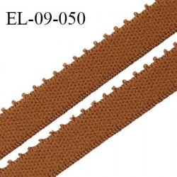 Elastique 9 mm bretelle et lingerie couleur havane largeur 9 mm haut de gamme Fabriqué en France prix au mètre