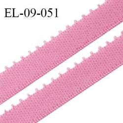 Elastique 9 mm bretelle et lingerie couleur rose fraise largeur 9 mm haut de gamme Fabriqué en France prix au mètre