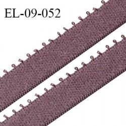 Elastique 9 mm bretelle et lingerie couleur macchiato largeur 9 mm haut de gamme Fabriqué en France prix au mètre