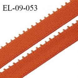 Elastique 9 mm bretelle et lingerie couleur orange cuivré largeur 9 mm haut de gamme Fabriqué en France prix au mètre