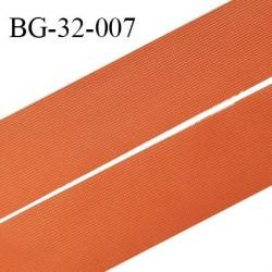 Droit fil à plat 32 mm spécial lingerie et couture couleur orange cuivré grande marque fabriqué en France prix au mètre