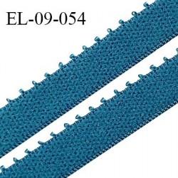 Elastique 9 mm bretelle et lingerie couleur bleu vertigo largeur 9 mm haut de gamme Fabriqué en France prix au mètre