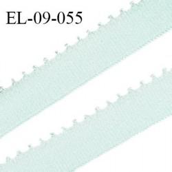Elastique 9 mm bretelle et lingerie couleur menthe douce largeur 9 mm haut de gamme Fabriqué en France prix au mètre