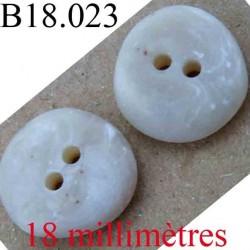 bouton 18 mm couleur marbre façon pierre 2 trous diamètre 18 mm