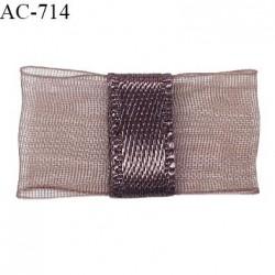 Noeud lingerie 24 mm haut de gamme en mousseline mate et centre satin couleur macchiato prix à l'unité