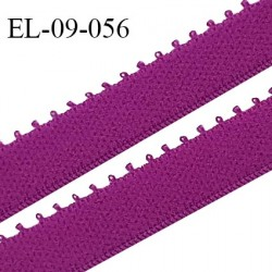 Elastique 9 mm bretelle et lingerie couleur fuchsia largeur 9 mm haut de gamme Fabriqué en France prix au mètre