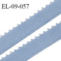 Elastique 9 mm bretelle et lingerie couleur bleu ciel largeur 9 mm haut de gamme Fabriqué en France prix au mètre