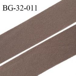 Droit fil à plat 32 mm spécial lingerie et couture couleur macchiato duveteux grande marque fabriqué en France prix au mètre