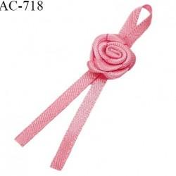 Noeud lingerie 55 mm haut de gamme rose en satin couleur rose longueur 55 mm largeur 20 mm prix à l'unité