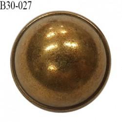 Bouton 30 mm style ancien en métal couleur laiton vieilli accroche avec un anneau prix à l'unité