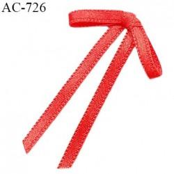 Noeud lingerie 28 mm satin haut de gamme boucles tombantes couleur rouge largeur 28 mm hauteur 45 mm prix à l'unité
