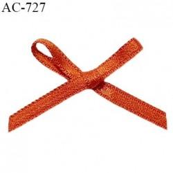 Noeud lingerie satin 32 mm couleur orange cuivré haut de gamme largeur 32 mm hauteur 25 mm prix à l'unité