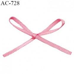 Noeud lingerie satin 32 mm couleur rose fraise haut de gamme largeur 32 mm hauteur 20 mm prix à l'unité