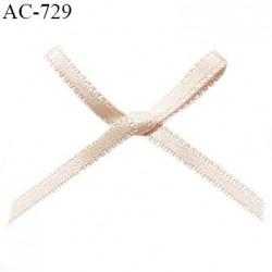 Noeud lingerie satin 35 mm couleur blush haut de gamme largeur 35 mm hauteur 25 mm prix à l'unité