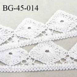 Galon dentelle crochet largeur 45 mm en coton couleur écru prix au mètre