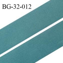 Droit fil à plat 32 mm spécial lingerie et couture couleur bleu vert grande marque fabriqué en France prix au mètre