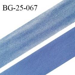 Droit fil à plat 26 mm spécial lingerie et couture couleur bleu ciel effet satiné grande marque fabriqué en France prix au mètre